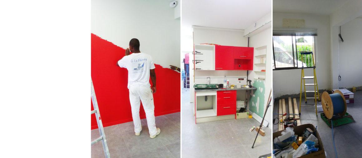 Helene Quillet architecte interieur CFAI Martinique renovation bureau chantier 002