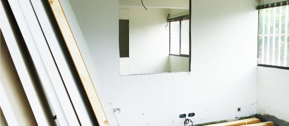 Helene Quillet architecte interieur CFAI Martinique renovation bureau chantier 01