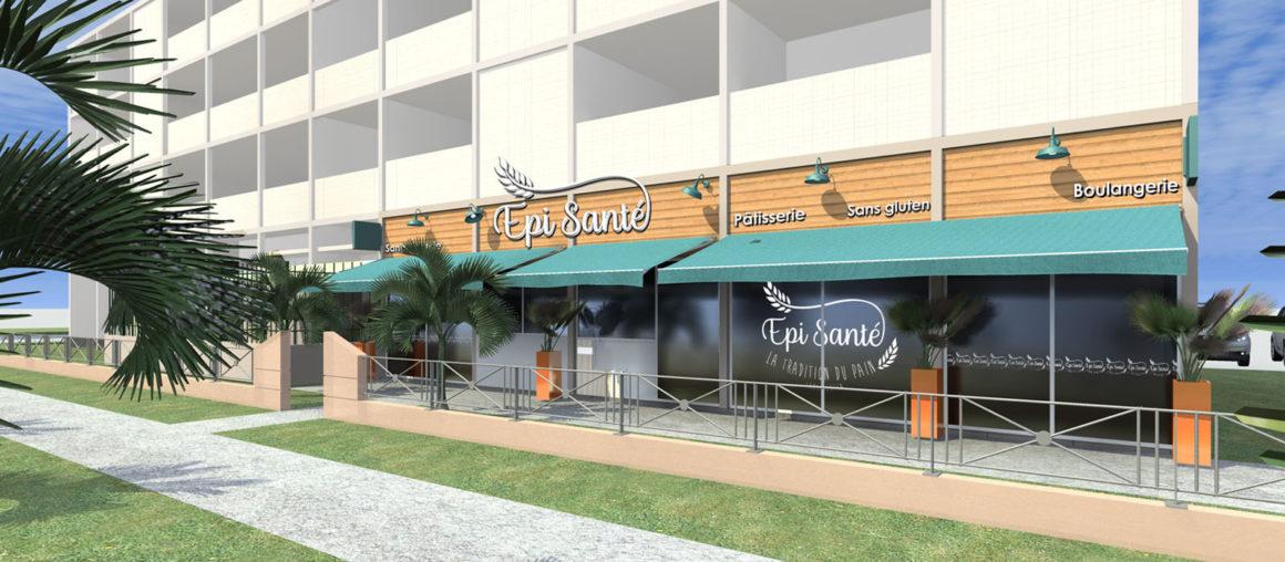 HQ-architecte interieur-Epi Santé-modelisation 3D facade exterieure 01